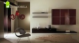 Living bordo lucios